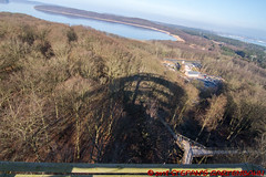 Aussicht vom Adlerhorst des Baumwipfelwegs (Stefan's Gartenbahn) Tags: baumwipfelweg aussichtsturm adlerhorst rügen prora naturerbe ostseebad binz natur architektur outdoor buchenwald holz himmel wald