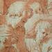 PRIMATICE - Cyclopes fabriquant les Armes des Amours dans la Forge de Vulcain (drawing, dessin, disegno-Louvre INV8533) - Detail 17a