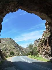 Tunnel below English fort near Montagu, Western Cape