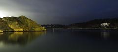 Homborsund night (rummelsen1) Tags: sea archipelago night house norway olympus em10mk2 green winter