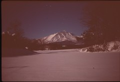 (✞bens▲n) Tags: pentax lx astia 100f at200 mamiya 50mm f2 film analogue slide expired japan kitakaruizawa snow winter asama mountain night longexposure stars dark