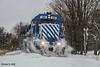 GLC 396 @ Lake George, MI (Michael Polk) Tags: great lakes central emd gp382 396 freight train cstn lake george michigan ann arbor railroad snow drift bust