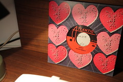 Love And Respect Go Hand In Hand (Flint Foto Factory) Tags: chicago illinois urban city winter february 2018 valentinesday valentine aretha franklin respect 45 single vinyl record card love hearts desk atlantic records motown