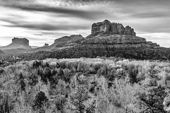 backside view of Cathedral Rock in Sedona AZ (TAC.Photography) Tags: sedona arizona blackwhite monochrome landscape mountain desert wilderness southwest west western tomclarkphotographycom tacphotography tomclark d5100