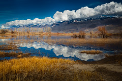Owen's Valley Reflection (AirHaake) Tags: california owensvalley reflection water clouds daytime sunny