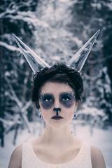 Klara Ice utan blixt (RobT4L) Tags: canon canon70d sigma sigma1835 portrait porträtt makeup fairytale forest winter umeå sweden nature natur täfteå