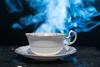 Smoking Teacup (brentbeme) Tags: smoke machine tea cup black lowkey indoor studio