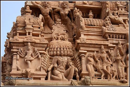 7664 - Ravana lifting Mount Kailash and GajasamharaMoorthi