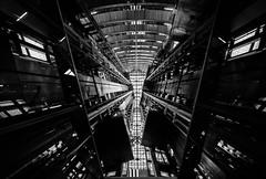 4,563 (Panda1339) Tags: chicago il blackandwhite usa monochrome architecture lookup