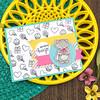 Kitty Hugging Cupcake (Newton's Nook Designs) Tags: newtonsnookdesigns handmadecards valentine hugs birthday critters smiles