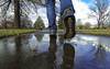 Beneath the Sole (The.Mickster) Tags: self wideangle portrait reflection gopro fisheye puddle water walk randy 365 park wet sole shoes
