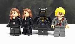 Christo figures (LJH91) Tags: christo7108 blackwidow blackpanther ragetti pad lego minifigures custom legohero