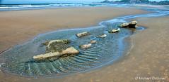 Tidepools on the Beach in  Newport Oregon (Michael Guttman) Tags: beach nyebeach newport oregon coast tidepool ocean waves sand ripples water wind windy coastaloregon