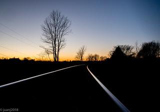 Rail Road Tracks @ Sunset