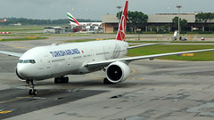 Turkish Airlines Boeing 777-3F2ER TC-LJB (turkhavakancolle) Tags: turkey turkish turkishairlines boeing boeing777 airplane airport aviation avgeek airlines singapore changi changiairport