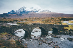 Sligachan. (Matthieu Robinet) Tags: a72 alpha folk glen highlands landscape loch outdoor outlander roadtrip scotland somewhere sonya7ii travel uk wanderlust winter winterscape bridge river waterscape escape freshair breath oxygenoutside fields summit cuillin mountains snow nature landscapist discover