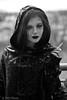 Smoke (piotr_szymanek) Tags: minerwa portrait outdoor blackandwhite young woman lady girl smoke smoking cigarette hood skinny face eyesoncamera 1k 5k 20f 10k 20k