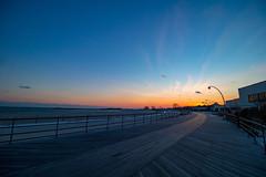 Sunset Board Walk (inakano) Tags: ocean beach sunset sky boardwalk newlondon connecticut