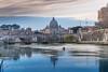 Calme et sérenité - Rome (Bouhsina Photography) Tags: tibre rome italie bouhsina bouhsinaphotography canon bateau canneaux kayak nuage coucher soleil basilique saint pière vatican
