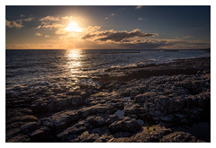 Northumberland Sun (urfnick) Tags: green northumberland craster dunstanburgh rocks sea ocean waves sun clouds rays rockpool canon eos 1300d tamron 18270mm sundaylights