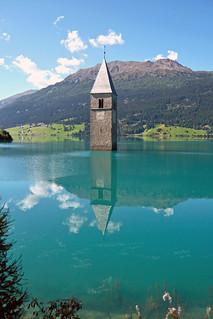 Curon Venosta / Graun im Vinschgau (Italy), Lago di Resia / Reschensee (1100822)