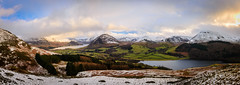 Crummock Water, Loweswater and the North Western Fells (Joe Hayhurst) Tags: lakedistrct landscape mountain panorama crummockwater loweswater england sunset goldenhour wide angle darlingfell