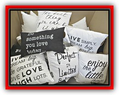 Happy Valentine's Day Everyone (bigbrowneyez) Tags: pillows wisdom happyvalentinesday sweet joyful love tenderness fun sentiments romance romantic laughter joy flickrchocolate blackwhite belli beautiful fantastic bellissimi