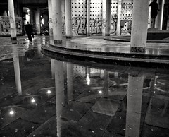 Columns and Reflections #1   /   Stubovi i odrazi #1 (valter.fuego) Tags: columns architecture reflection urban phonecamera blackandwhite street belgrade
