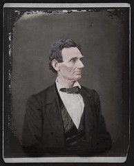 Abraham Lincoln, presidential candidate rework no sepia (rob.vndnB) Tags: library congress colorization hesle alexander colorized people lone mole right cheek peculiar curve lower lip portrait photo photogragh photographs picture public old rvndnb american archives border glass looking light image albumen silver negative negatives print year 1860 lincolnian