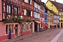 Alsace - Colmar - Petit Venice (roberto parravicini) Tags: case houses architecture road alsazia alsace colmar colori colours halftimberedhouses caseagraticcio