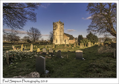 St Peters, Rowley, East Yorkshire (Paul Simpson Photography) Tags: rowley eastyorkshire eastriding humberside church religion stpeter stpeters tower february sonya77 tree trees graves graveyard headstones headstone bluesky snowdrops paulsimpsonphotography