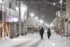 Going Home (somazeon) Tags: panasonic lumix snow night road