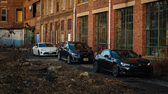 Line-Up (_jonchinn) Tags: toyota 86 gt86 ft86 jdm jdmgram subaru brz wrx sti wrxsti sports cars scion frs car sony alpha6000 a6000 warehouse abandoned urban exploration rustic black white greyscale grayscale fitment stock