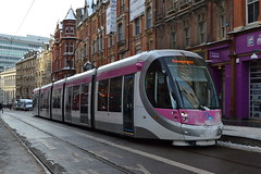 Midland Metro 20 (Will Swain) Tags: birmingham 11th december 2017 west midland midlands city centre tram trams light rail railway rails transport travel europe grand central stop metro 20