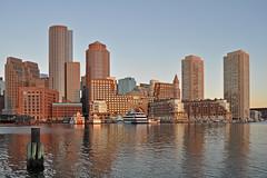 USA - Massachusetts - Boston - Waterfront - sunrise (Harshil.Shah) Tags: boston massachusetts united states america usa new england sunrise downtown cbd city center