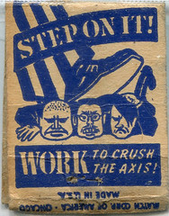 Vintage Matchbox (gill4kleuren - 17 ml views) Tags: intage old scan maps sigarets art matchbooks matchcover matches smoking text sign circle writing duty war bonds stamps road
