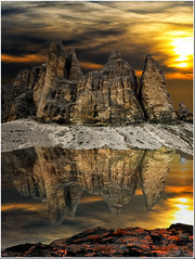 Imagine ... (Gio_guarda_le_stelle) Tags: artwork trecime mountainscape reflection fake sky warm sciencefiction photoshop canon dolomiti dolomites dolomiten asimov fantascienza novel urania astoundingsf racconto montagna sunset tramonto italia italy bastalego