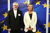 Mogherini receives Mr Fabio Baggio Under Secretary of Migrants and Refugees Section of the Holy See's Dicastery for the Integral Human Development, January 2018 (European External Action Service - EEAS) Tags: vatican mogherini