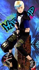Tate (Dolldiva67) Tags: tatetanakatheindustry tatetanakaintegritytoys fashionroyalty asianlookingdolls asiandolls tatetanaka kpop boyband bts hiphop kpopidol maledolls 16scale 16scaledolls graffiti graffitiartist blue red black