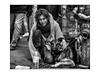 Le confident... (vedebe) Tags: rue urbain urban street ville city humain homme human animaux chiens noiretblanc netb nb bw monochrome société social