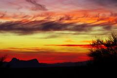 Many-colored sunset  {Explored} (jimsc) Tags: skyscape westernsky skycolors evening skyshow eveningsky sundown endofday winter january ngc desert sonorandesert arizona pimacounty tucson catalina pentax kx jimsc