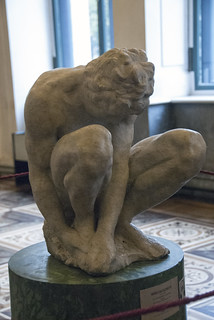 The Crouching Boy by Michelangelo at the Hermitage in St Petersburg Russia