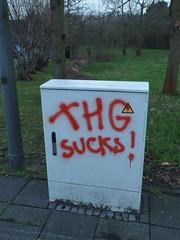 School's our for ever (mkorsakov) Tags: waltrop city innenstadt graffiti tagging parole slogan thg anti gymnasium