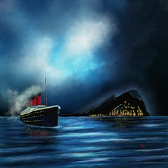 The Night Passage (Pat McDonald) Tags: andalucía andalus artrage atlanticocean blueensign britain fleet flamenco españa england digitalart gibraltar heavyweather malta mediterranean mediterraneanfleet merchantnavy navy ship sea sailor royalmailship roughseas retrato redensign redduster ulster uk storm spain night passage
