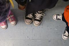 Day 4038 (evaxebra) Tags: faf converse shoes trio three pairs pink black blue matching matchies ash luna ewa