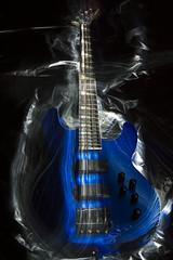 1 (scottnoga) Tags: blue light painting music bass black indoors fiber optic jackson metal wood swirls strings long exposure
