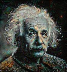 Albert Einstein Relative (cirooduber) Tags: visualart awardtree trollieexcellence digitalarttaiwan ostagram deepdream albert einstein