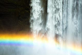 Rainbow and Skógafoss / Sateenkaari ja Skógafoss