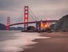 Inspiring (Juan Pablo J.) Tags: yellow bayarea beach bridge beautiful goldengatebridge artofimageasmusic architecture sand sanfrancisco seascape seashore sea california canon5dmkii coast color canon24105mmf4l coastline