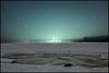 Green Fog (Jonas Thomén) Tags: sea hav havet is ice snö snow hdr rock sten lights lampor ljusförorening lightpollution trees träd skog forest natt night longexposure långexponering green grönt